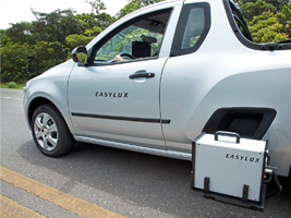 Mobile Retroreflectometer for road markings – LED optical system.